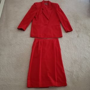 Vintage Worthington Red Skirt Suit